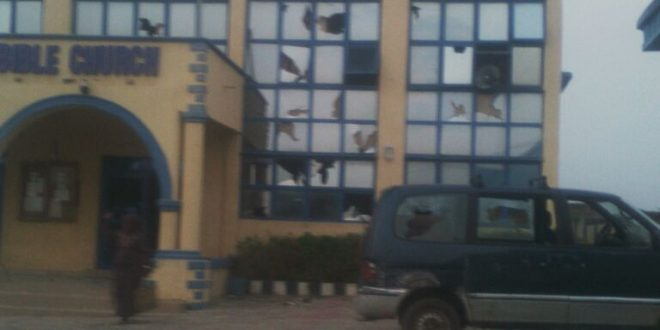 Funaab Student Attacks The VC Church, DHBC And Set Cars On Fire